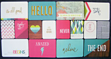 """'PRISMATIC' FIRST / LAST PROJECT LIFE CARDS BY BECKY HIGGINS - 6""""X4"""" & 3""""X4"""""""
