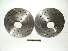 GM 10 & 12 Bolt Rear Disc Brake Conversion Drilled & Slotted Rotors