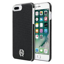 House of Harlow iPhone 7 PLUS~designer phone case~BLACK silver~lizard texture