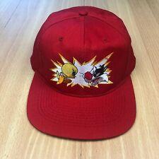 Vintage LOONEY TUNES Embroidered Snapback Cap Hat