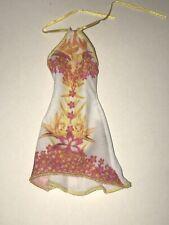 Mattel 2013 BARBIE FASHIONISTA White Pink FLORAL Flora Dress ONLY Sundress