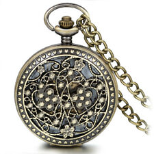 Heart Floral Skeleton Hand-winding Mechanical Arabic Numerals Pocket Watch