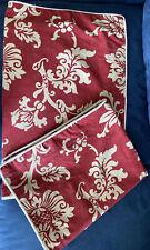 Chaps Ralph Lauren 2 Standard Pillow Sham 24X30''Red Cream French Riviera