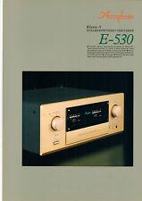 Faltblatt Prospekt Accuphase E-530  B586