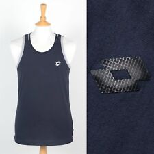 MENS LOTTO VEST TANK COTTON WORK OUT FITNESS SPORTS GYM DARK BLUE S