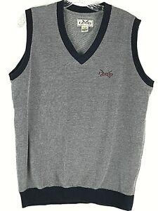 Izod Golf Sweater Vest V-Neck Pull Over Ribbed Trim Men's Size Small 100% Cotton