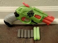 Highly Modified Nerf Zombie Doublestrike Gun w/ 7 darts Shoots 45 ft level shot!