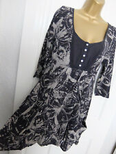 WHITE STUFF ● size 12 ● black grey butterfly top tunic dress womens ladies