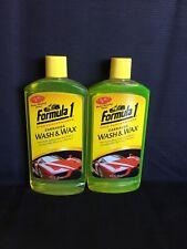 2-Pk Formula 1 Carnauba Car Wash And Wax, 16 oz. Ea. Wax And Shine As It Washes!