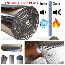1*0.5m 10mm Car Auto Sound Noise Deadener Cotton Heat Barrier Mat Aluminum Sheet