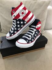 New Converse USA Flag American Chuck Taylor Mens US 4 Slip On Shoes [C134]
