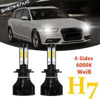 2x 55W LED HAUPTSCHEINWERFER H7 Abblendlicht LAMPEN BIRNE 6000K K9 für Audi