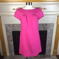VINEYARD VINES Womens XS Pink Cap Sleeve Linen Cotton Sack Shift Dress