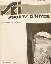 Ski Sport d'Hiver n°26 - 1934 - Montgenèvre - St Anton - Croisière Blanche