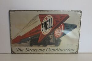 SMS3 SHELL OIL  Metal Sign New 30 cm W X 20 cm H