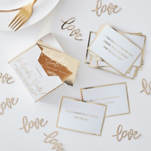 WEDDING TABLE GUEST GAME - TRIVIA CARDS - ICE BREAKER GAME