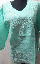 Elegance chikan embroidery   coton  kurta/top size M40