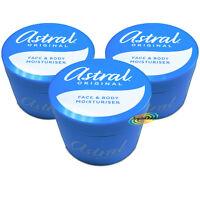 3x Astral Original Face & Body All Over Moisturiser Moisturising Cream 500ml