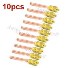 "10pcs HVAC Service/Access Valve 1/4"" SAE *1/4"" OD *2.75"" Stem Core Refrigeration"