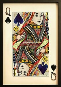 Queen of Spades Collage Wall Art - Great statement piece!