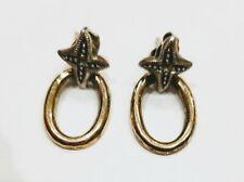 Sterling Silver 925 Pierced Marcasite Dainty Dangle Earrings