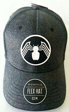 Marvel Bioworld Venom Flex Fit Rubber Weld Logo Hat Cap