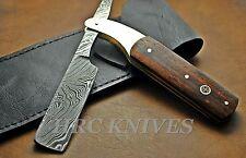 "DF8 ~ 9.5"" CUSTOM HRC DAMASCUS STRAIGHT RAZOR BLADE KNIFE - MENS SHAVER - USA"