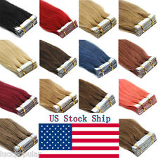 Seamless Tape In Pu Skin Wefts Remy Human Hair Extensions Tape-In Hair 20-60Pcs