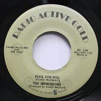 Soul 45 The Impressions - Fool For You / I'M Loving Nothing On Radio Active Gold