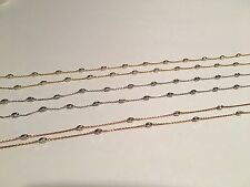 925 sterling silver o30 moon cut chains