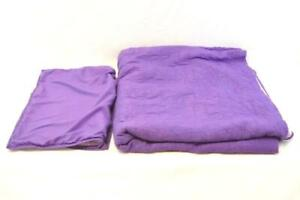 Pillow Fort Full Size Quilt Bed Spread With Pillowcase Purple Comforter
