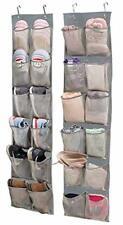 Over Door Organizer Hanging Shoe Storage,2 Pack 12 Large Mesh Pockets(Grey)
