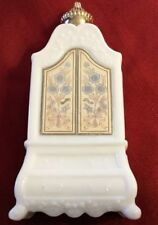 Avon Field Flowers Foaming Bath Oil White Armoire/Wardrobe Shaped Empty Bottle