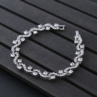 Silver plated MADE WITH SWAROVSKI CRYSTALS Tennis bracelet GIFT Xmas 3 Colours