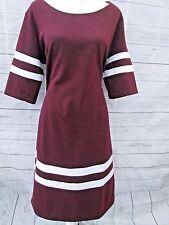 Ashley Stewart Plus Size 18/20 Maroon Burgundy Stretch Dress NWT MSRP $49.50