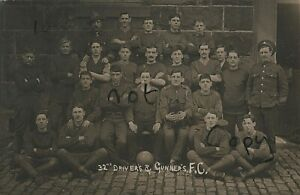 WW1 soldier group 32nd Battery ? Royal Field Artillery RFA Football Team