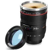 Self Stirring Lens Camera 24-105mm EF Thermos Travel Tea Coffee Mug