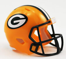*New* Green Bay Packers Nfl Riddell Speed Pocket Pro Mini Football Helmet