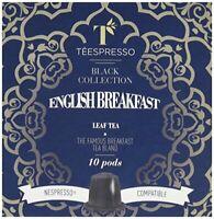 Teespresso English Breakfast Nespresso Compatible Tea Capsules Pack of 5, Total