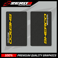 SHERCO MOTORCYCLES UPPER FORK DECALS MOTOCROSS GRAPHICS MX GRAPHICS CARBON