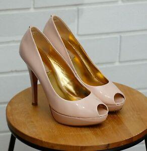Women's Ted Baker Blush Pink Platform Peep Toe Heels Size UK6 / 39