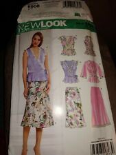 CUT Simplicity Pattern New Look 6608 Skirt Tie Wrap Blouse Size 10-22