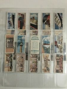 trade cards  mars wonders of the queen mary 1936 full set