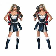 Christmas Cosplay Costume Sexy Thor avengers warrior Uniform Women Fancy Dress