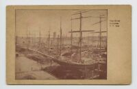 Postcard - New York, NY - EARLY VIEW - E RIVER SHIPPING - SHIPS SCHOONERS