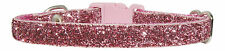 """DUSKY PINK  SPARKLE CHIHUAHUA  DOG/PUPPY COLLAR 6""""-8"""""""