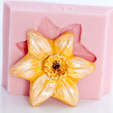 Daffodil Flower Silicone Mold Cake Decorating Mold Jewelry Mold Flexible (511)