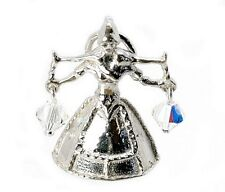 ARGENTO Sterling & Crystal Set latte MAID Charm