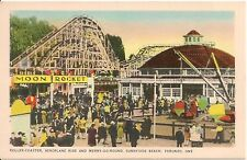Amusement Rides at Sunnyside Beach Toronto Canada Postcard Amusement Park