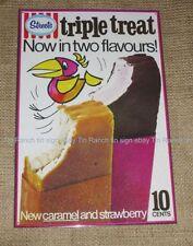 STREETS TRIPLE TREAT ICE CREAM TIN SIGN! New vintage Australian advertising 70s